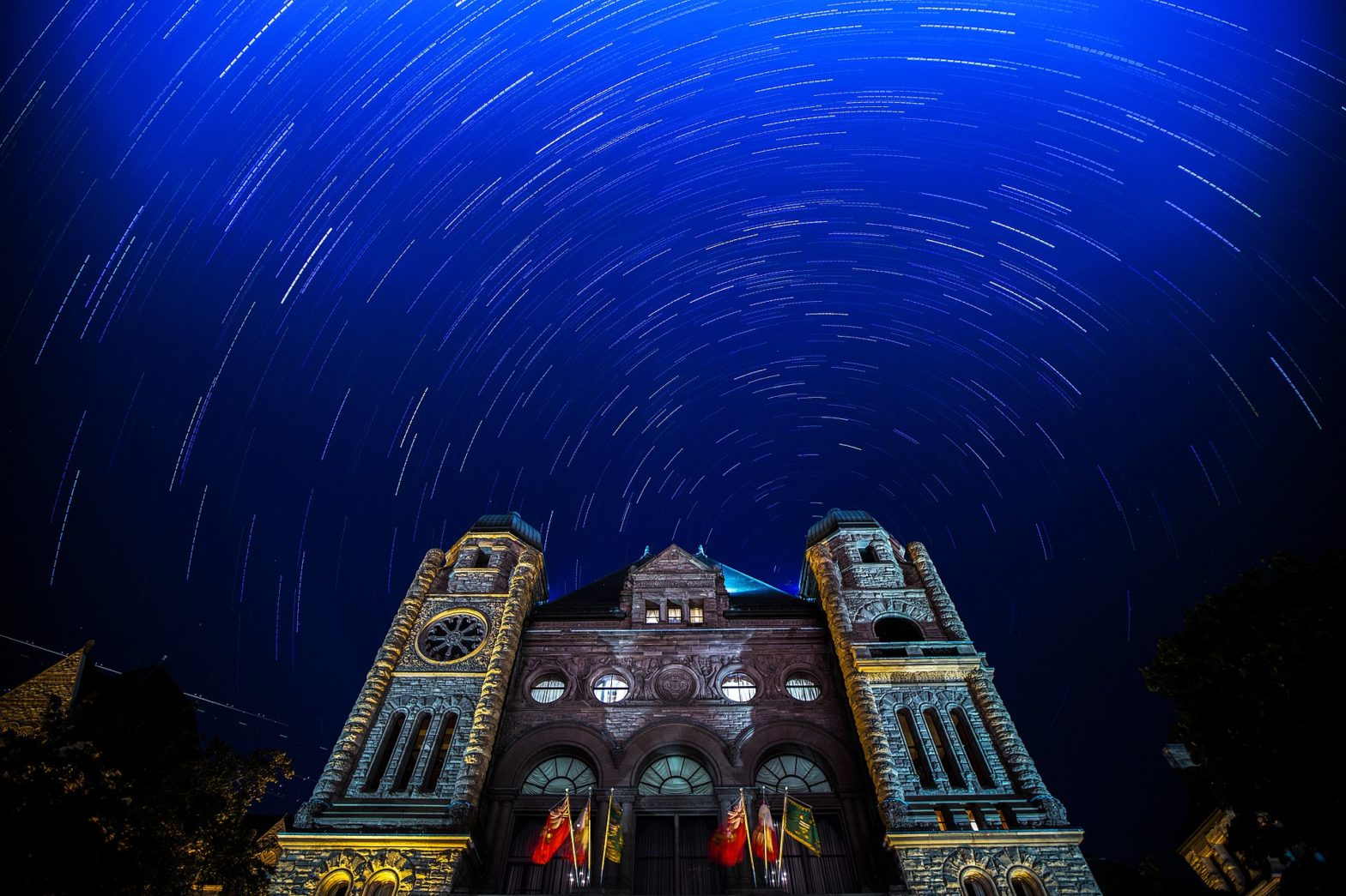 Star Trails over Ontario Legislative Building